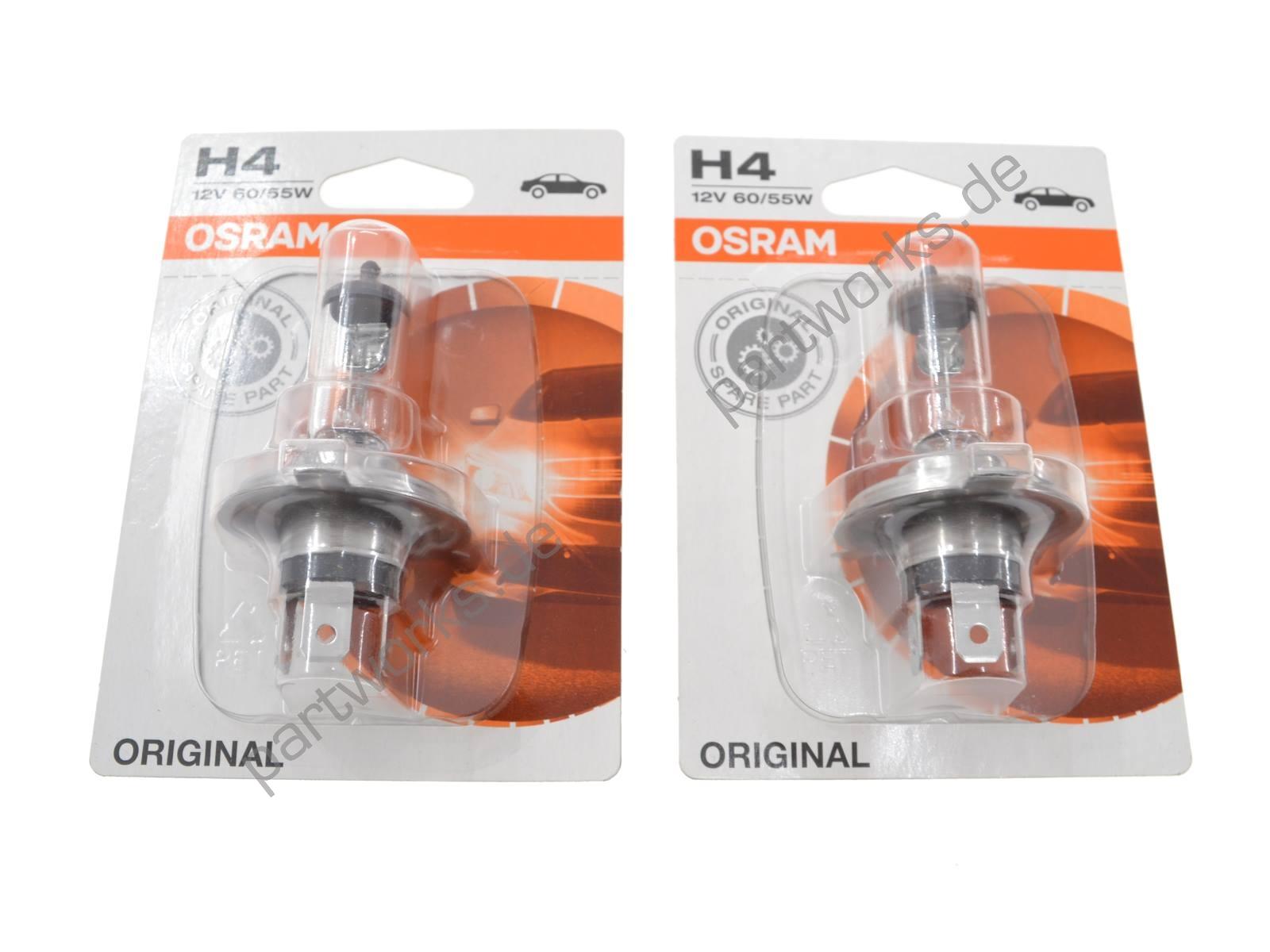 2 OSRAM Original Birnen für Porsche 924 944 968 Frontscheinwerfer