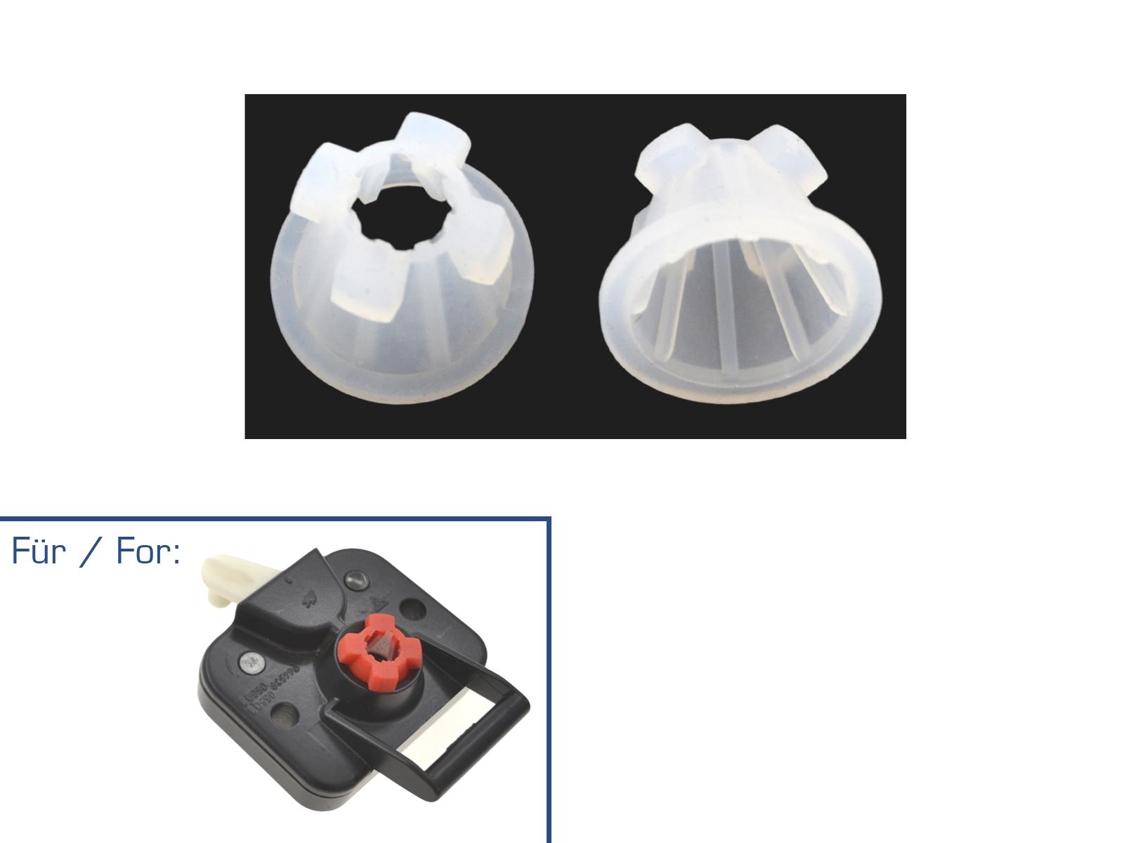 2x partworks rubber insert for Porsche 924/944/968 rear hatch lock