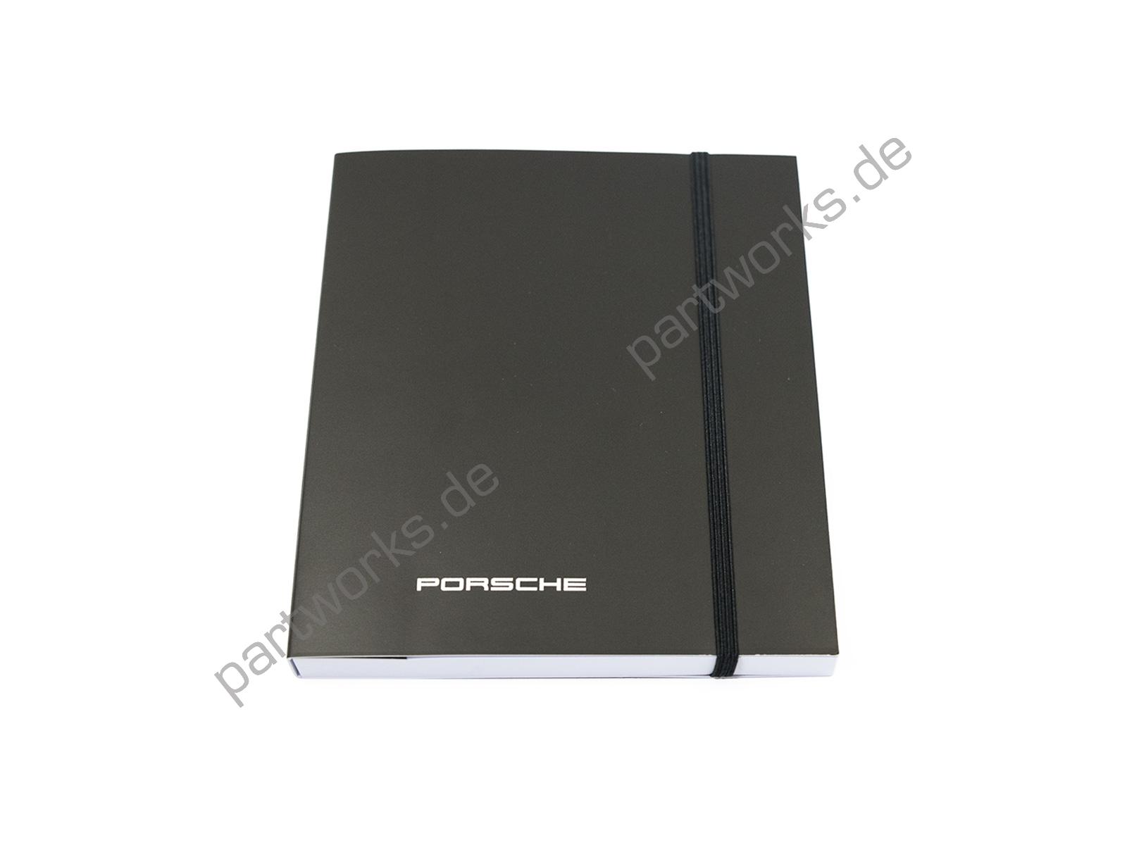 Original Notizbuch für Porsche 911 928 944 996 mit Kugelschreiber