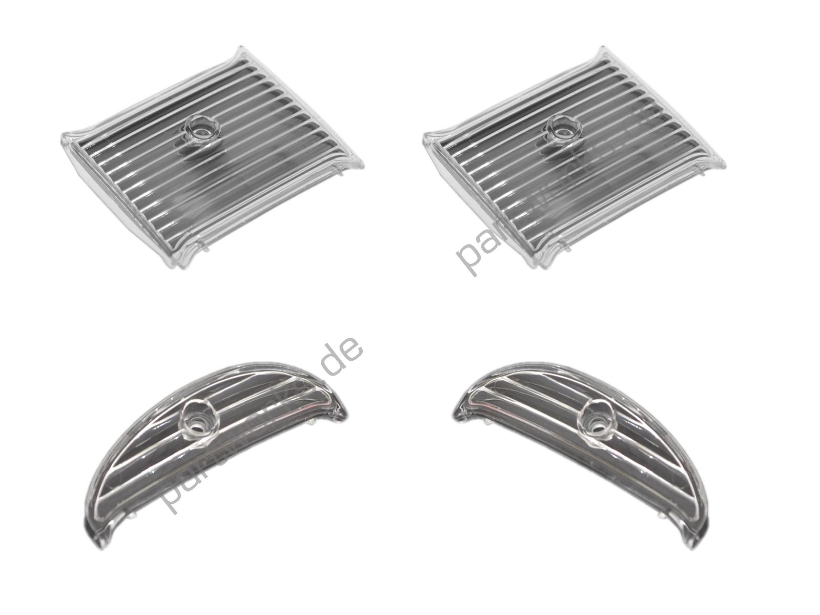 4 Blenden für Porsche 964 Nebelscheinwerfer/Blinker Komplettset