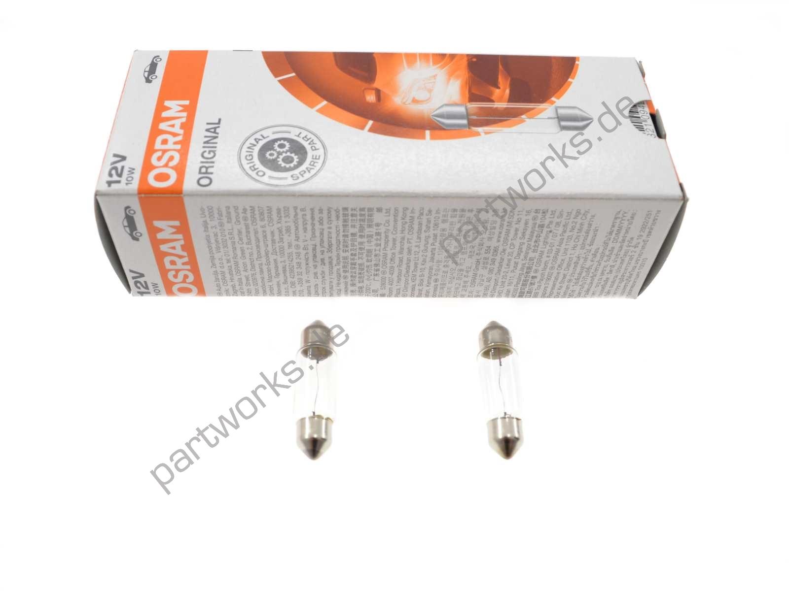 2x Glühbirne OSRAM für Porsche 924 944 968 928 Innenbeleuchtung