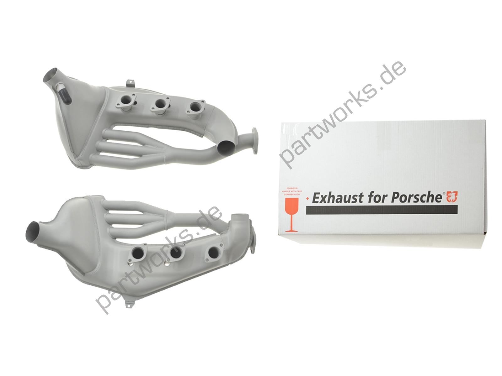 Set Wärmetauscher für Porsche 911 T E S '65-'75 2.0-2.7 STAHL