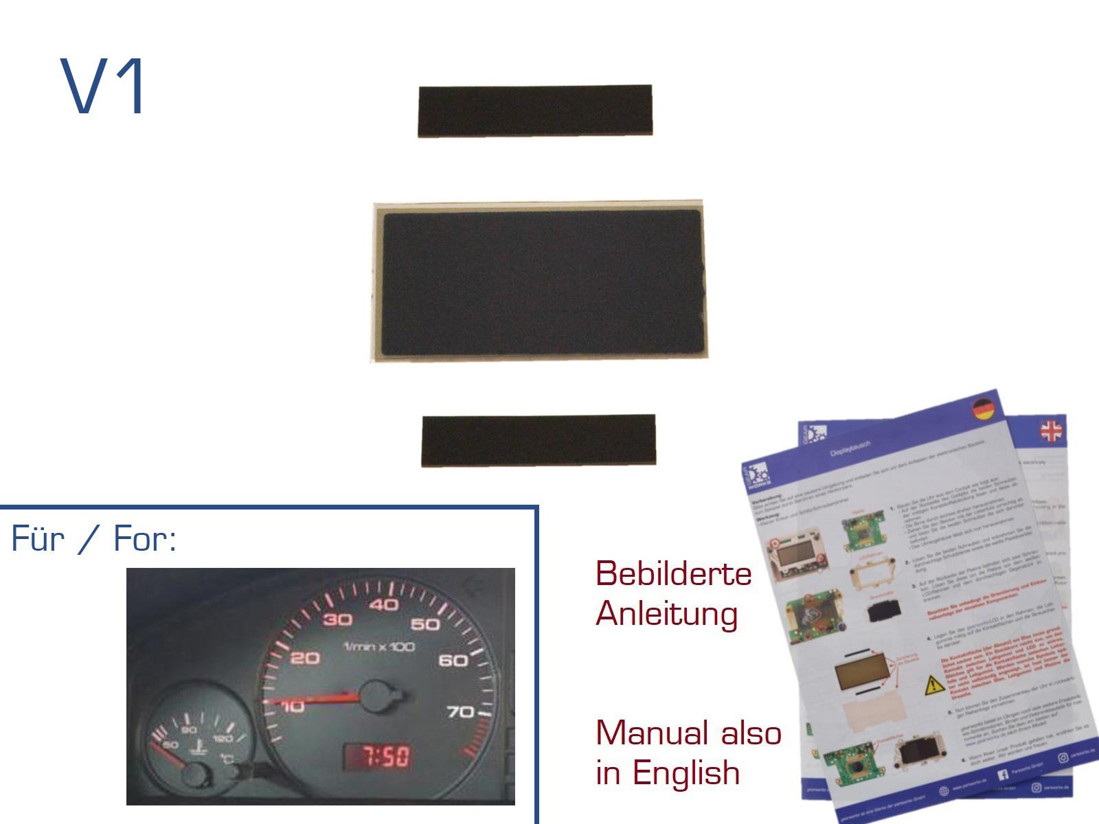 GEARWORKS DISPLAY FÜR AUDI 80//100//200//V8 MFA TACHO//KOMBIINSTRUMENT REPARATUR V1