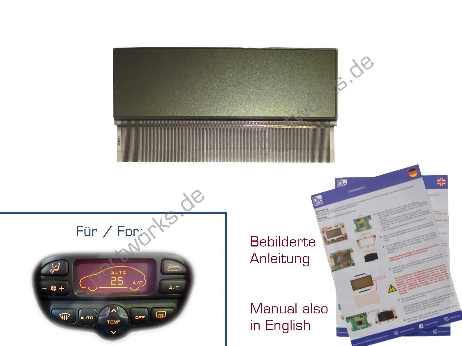 Display für Citroen C5/Xsara Klimabedienteil A/C HELL