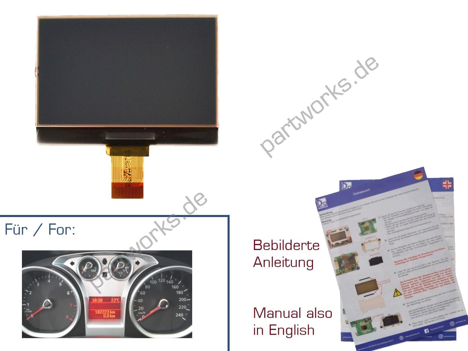Display für Ford Focus 08-10/C-Max/S-Max MK2 Kombiinstrument