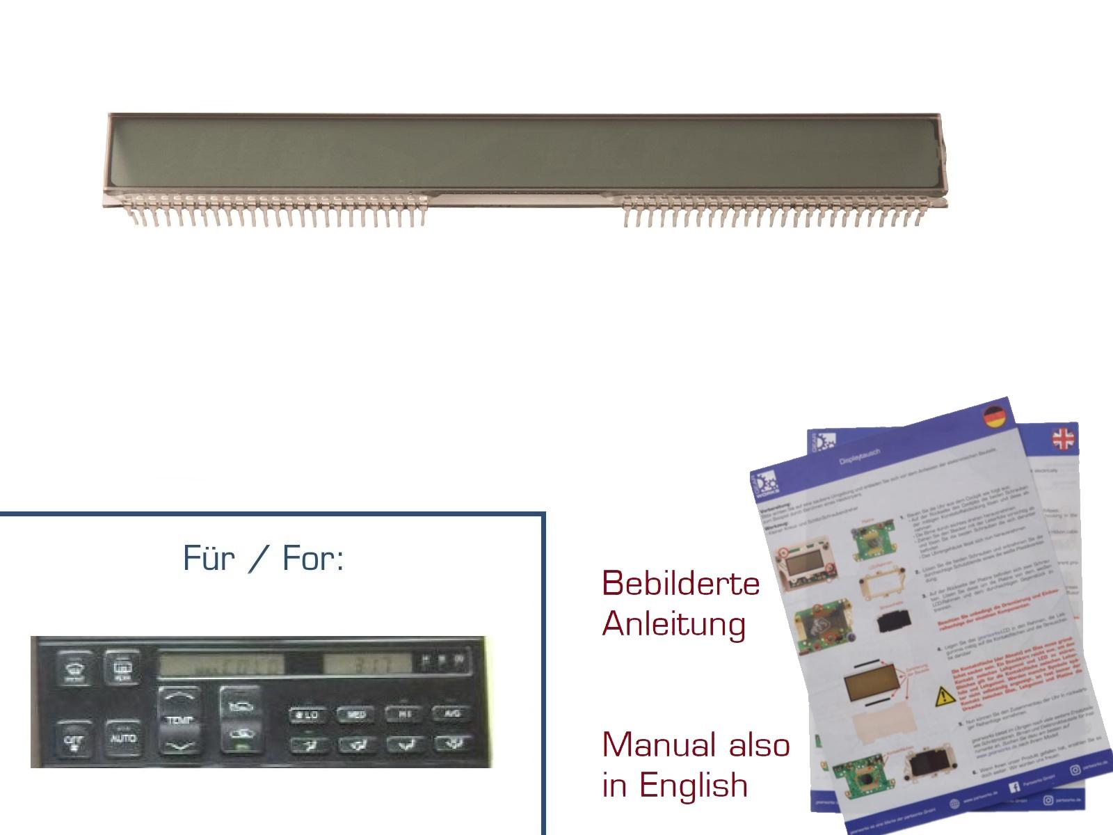 Display für Lexus LS400 '93-'94 Klimasteuerung Mittelkonsole
