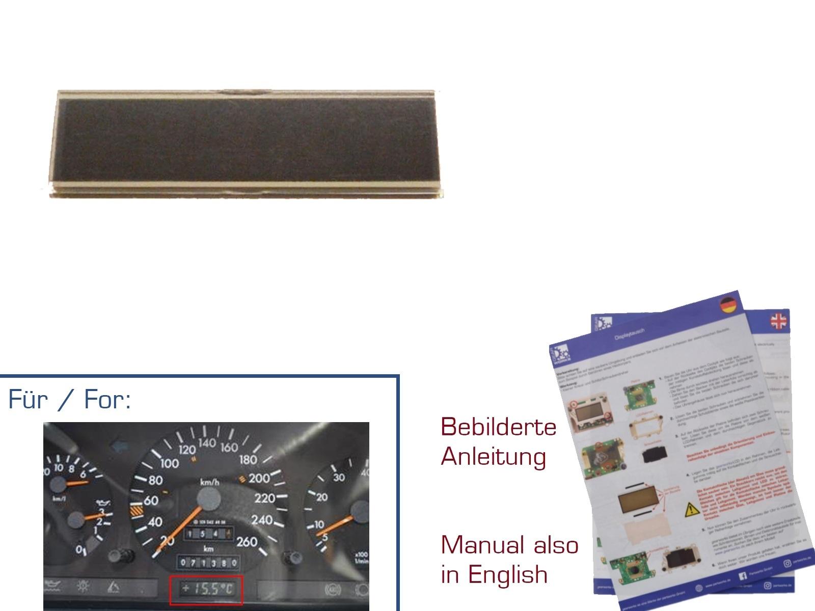 Display für Mercedes SL/R129 S/W140 Außentemperaturanzeige