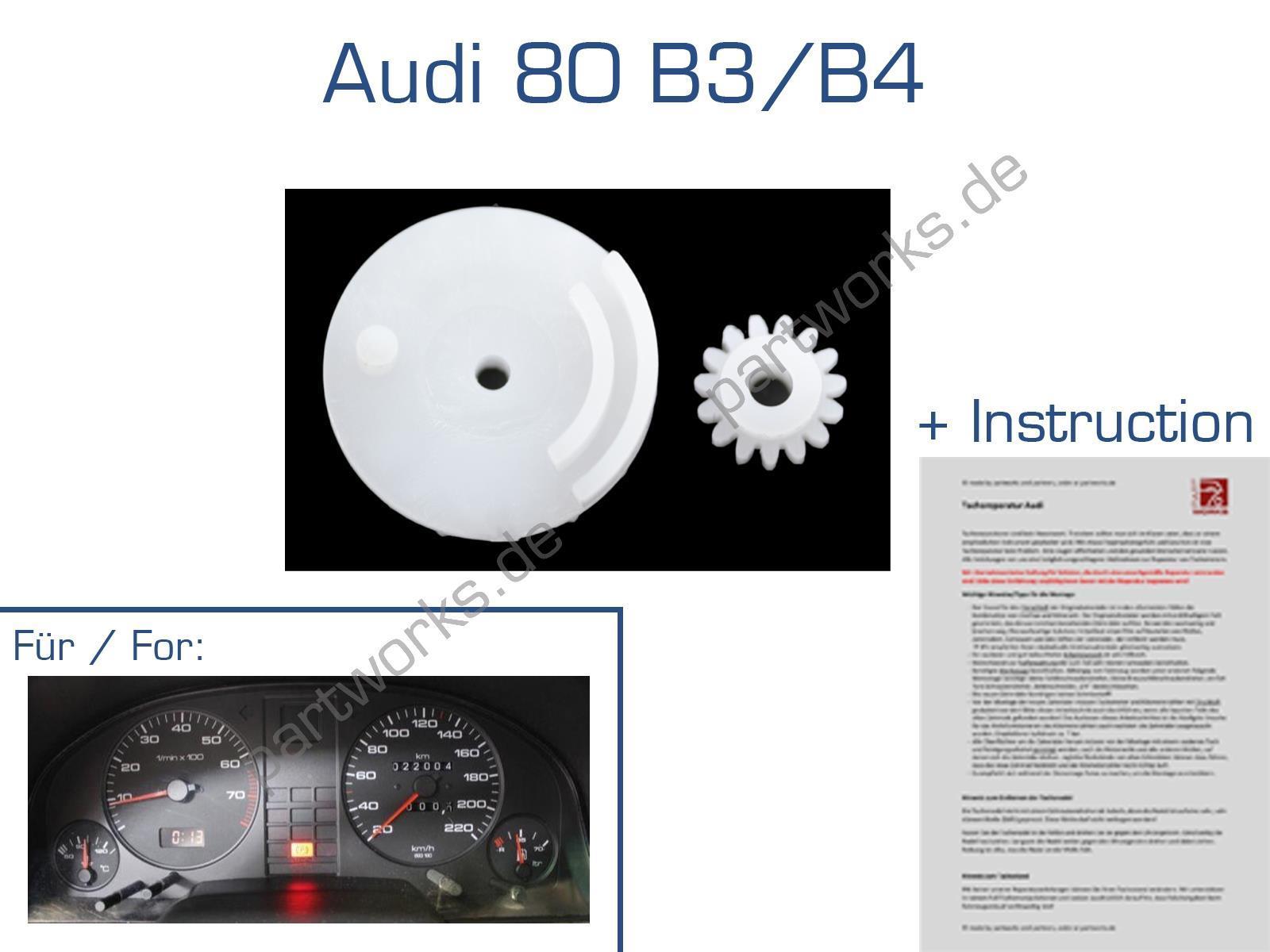 E15 + 15-K Zahnräder für Audi 80 B3/B4 Tacho Kilometerzähler Reparatur