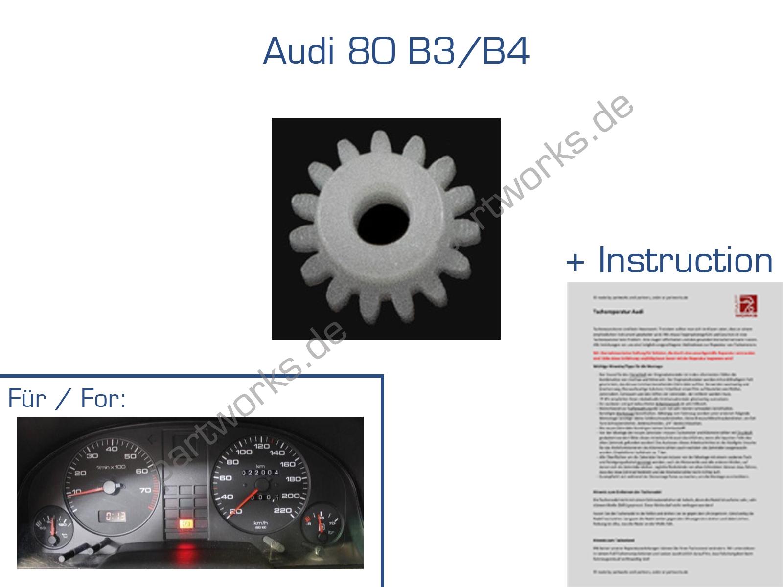 E15 Zahnrad für Audi 80 B3/B4 Tacho Kilometerzähler Reparatur
