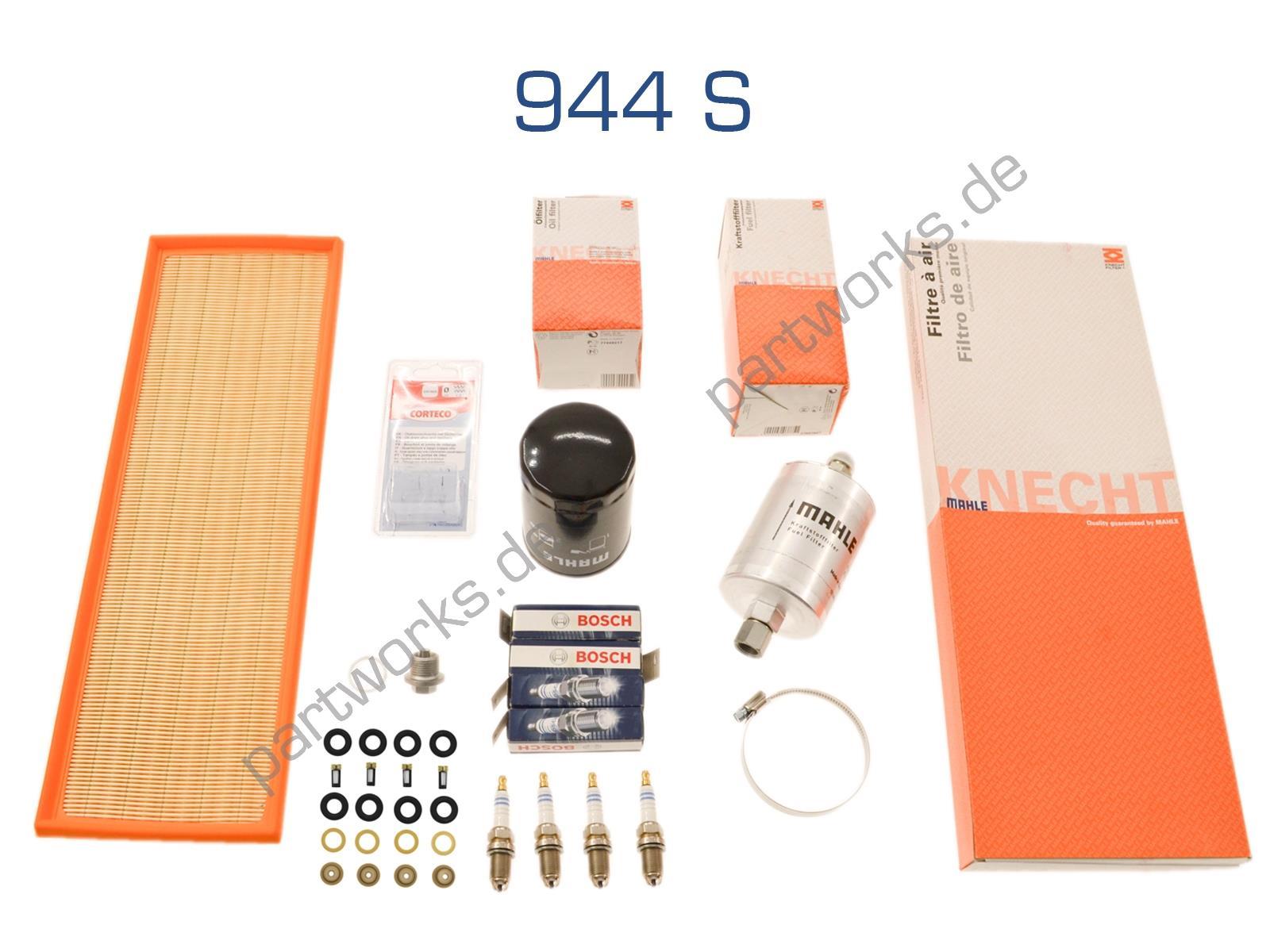 Inspektionskit für Porsche 944 S Filter Zündung Dichtungen
