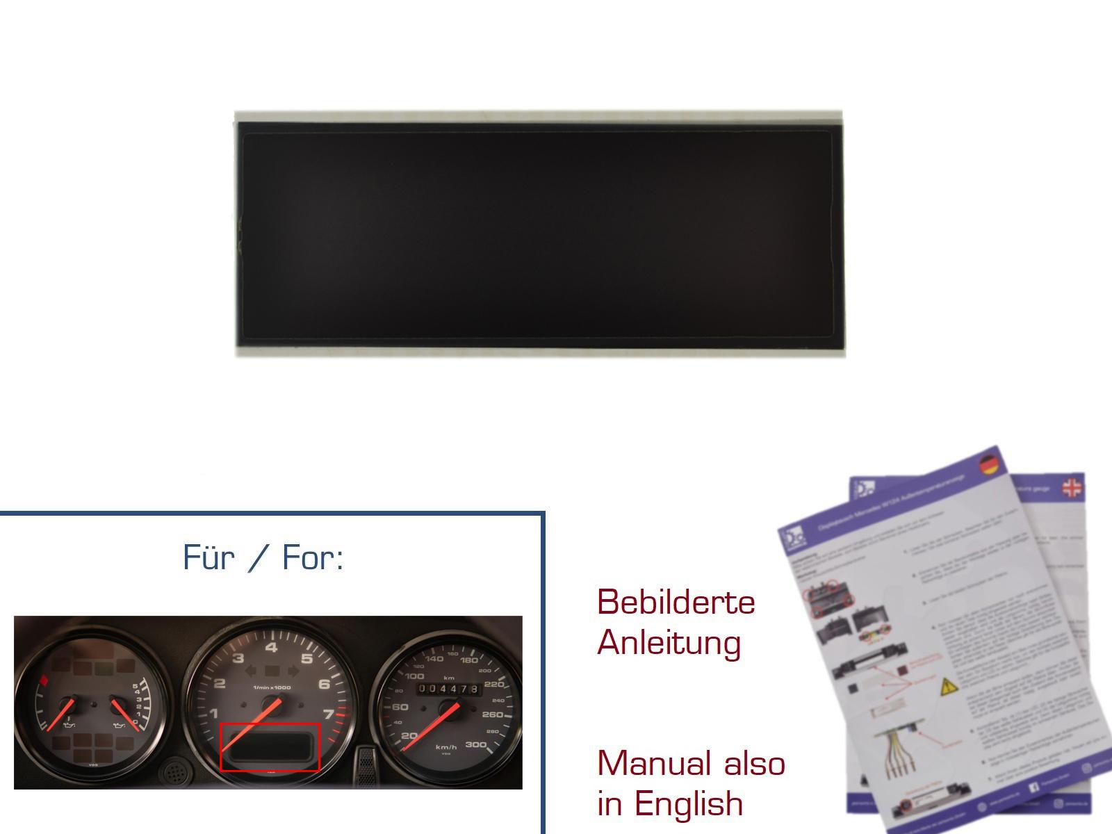 LCD Display für Porsche 964/993 Drehzahlmessser Bordcomputer