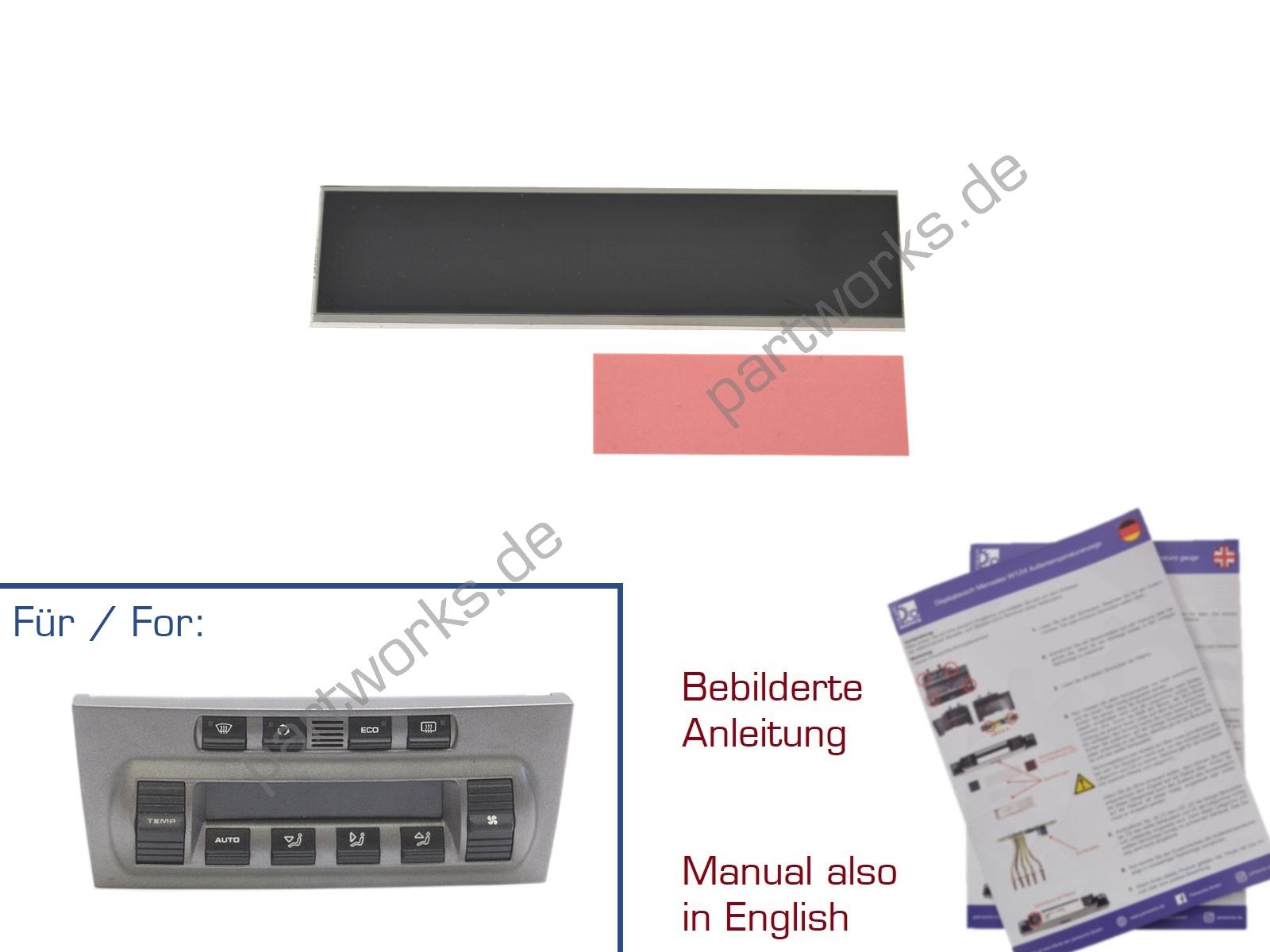 LCD Display für Porsche 997/987 Cayman Klimabedienteil Reparatur
