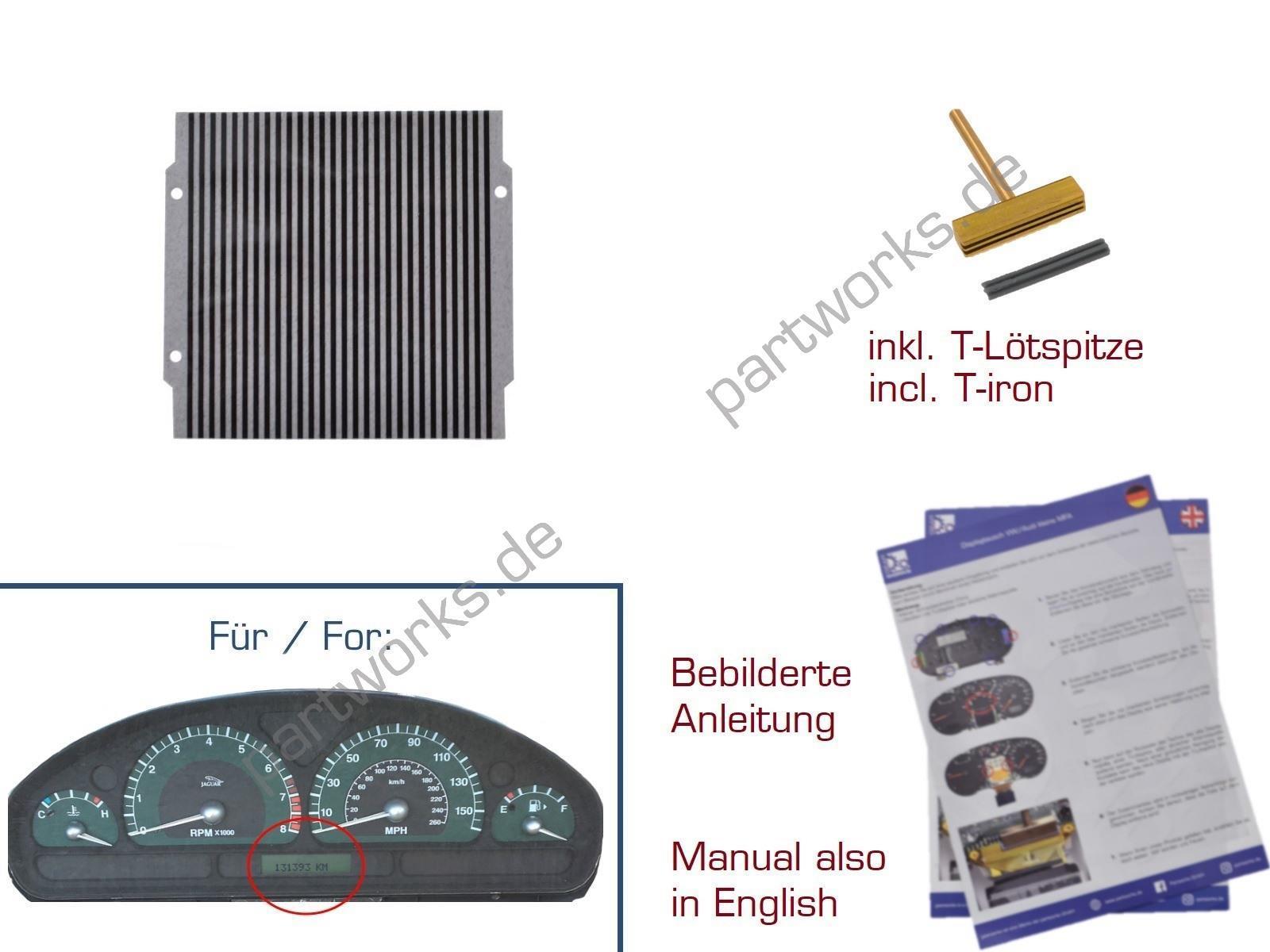 Leiterfolie für Jaguar S-Type bis -'03 Kombiinstrument Display
