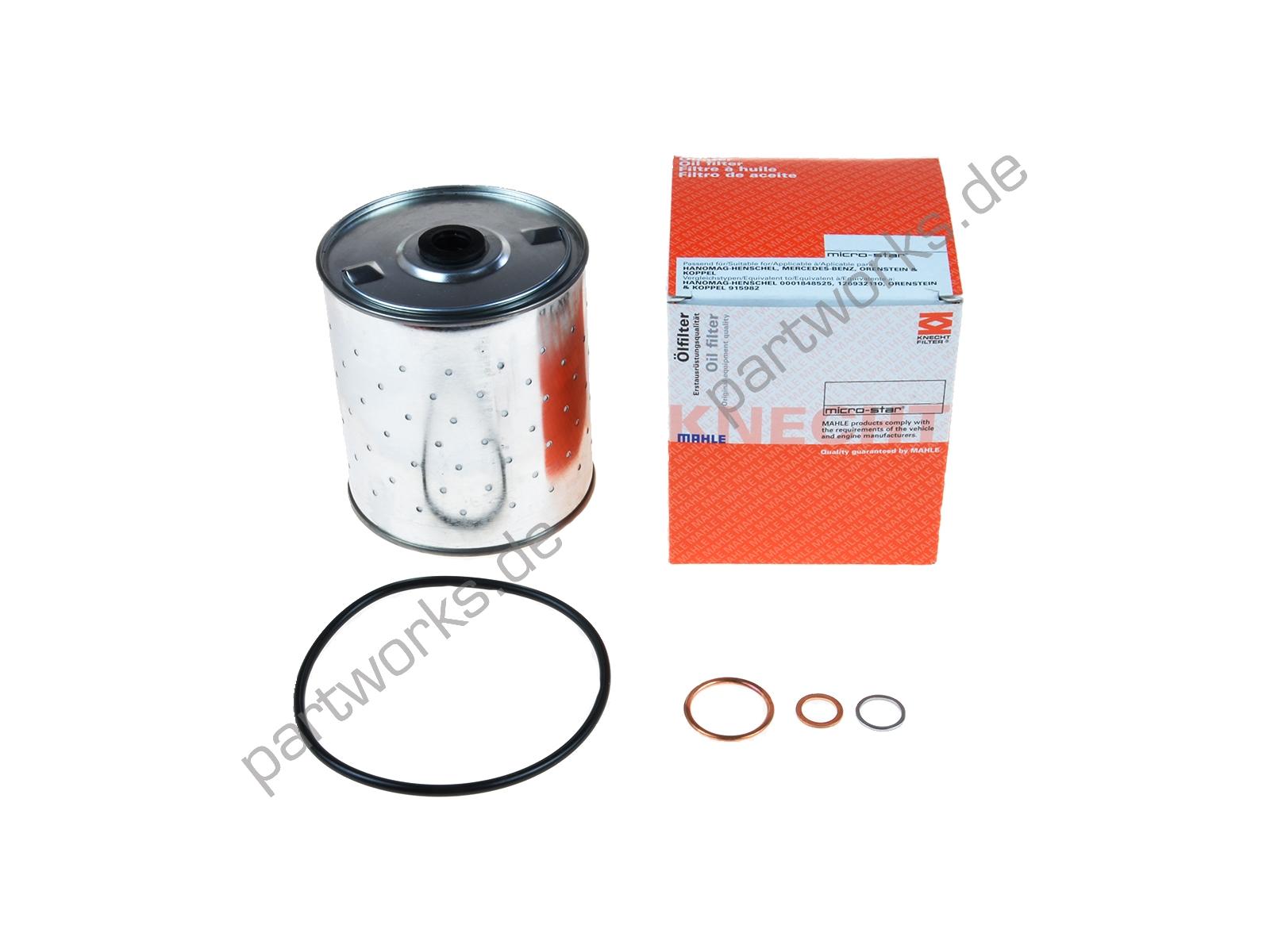 Mahle Ölfilter für alle Porsche 356 A/B/C 912 Motor/Filtereinsatz