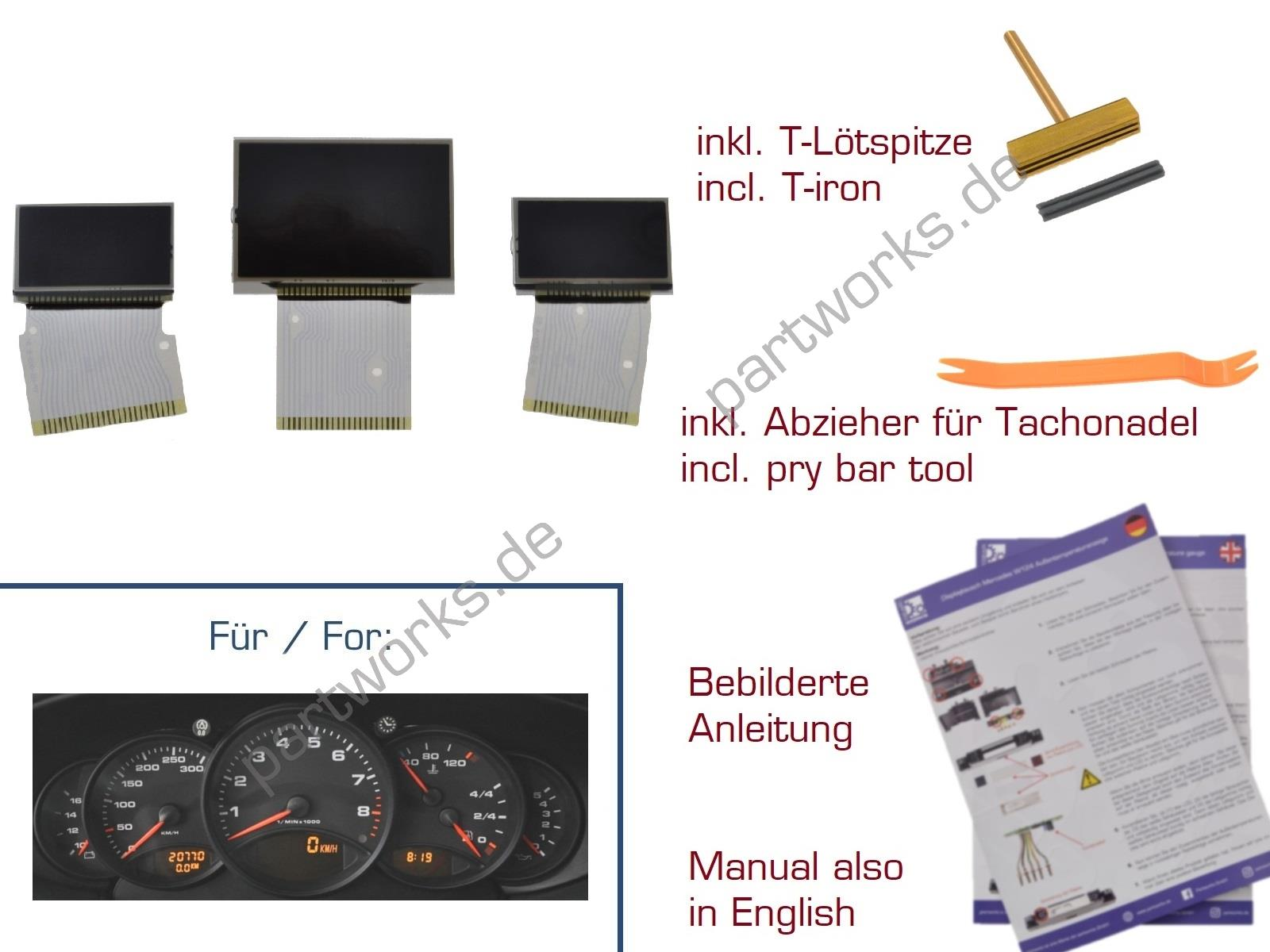Set Displays für Porsche 911 996 986 Kombiinstrument US Version