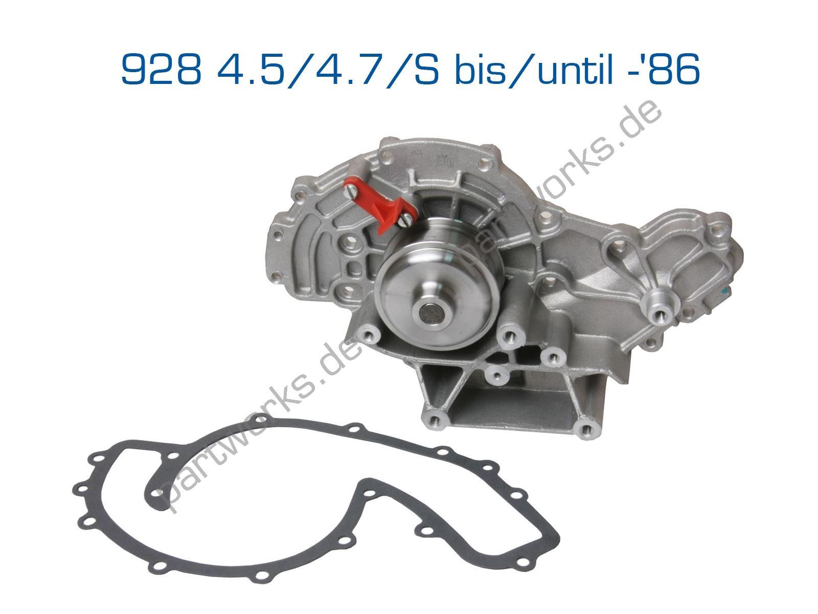 ÜRO Wasserpumpe für Porsche 928 4.5/4.7/S bis -'86 + Dichtung