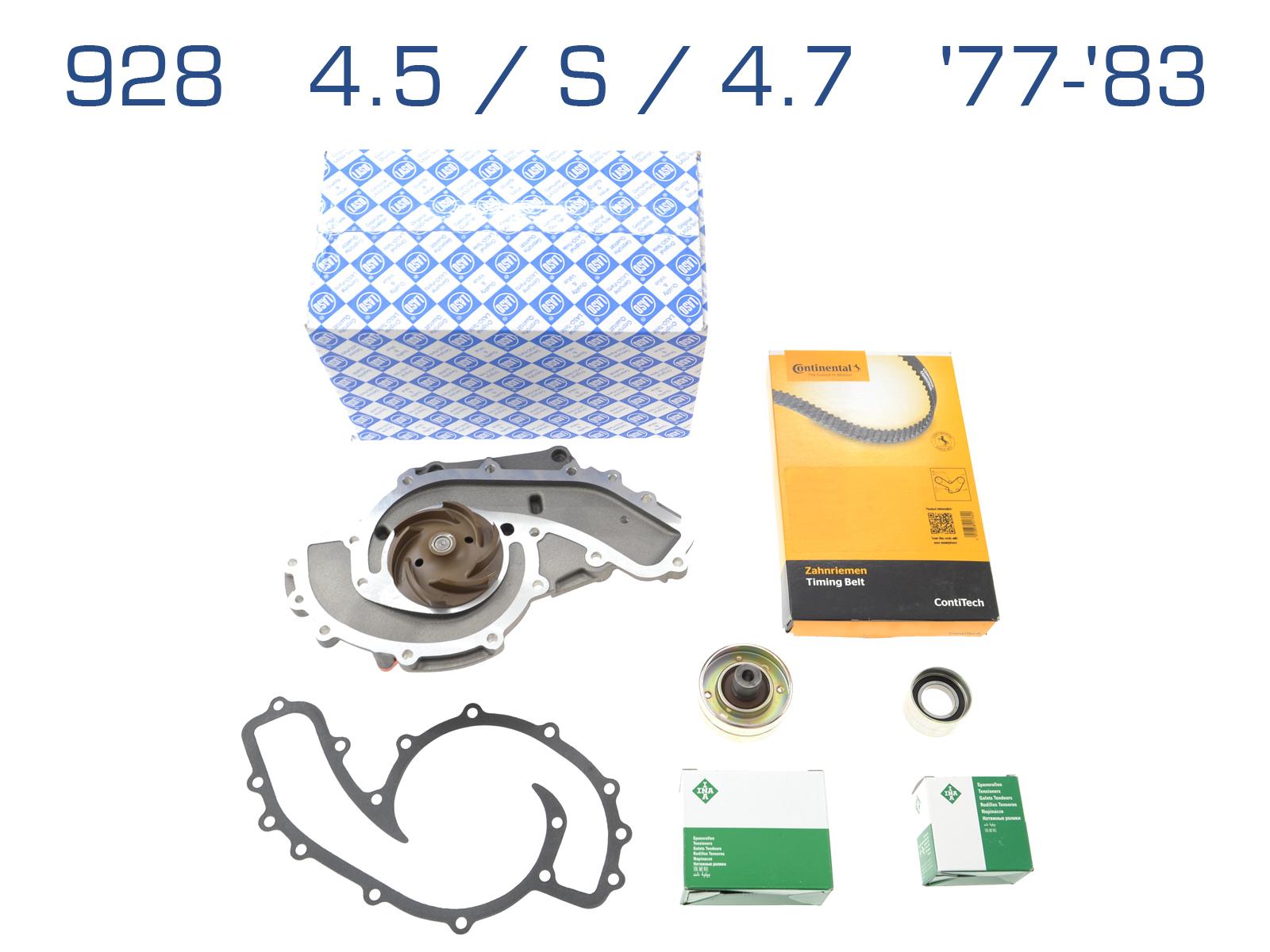 Wasserpumpe + Zahnriemen für Porsche 928/4.5/S/4.7 '77-'83
