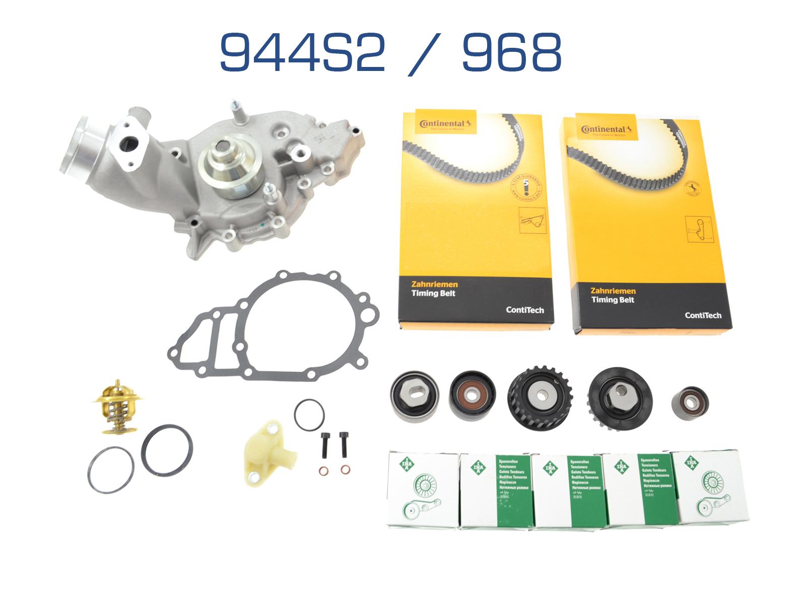 Wasserpumpe + Zahnriemen für Porsche 944S2/968
