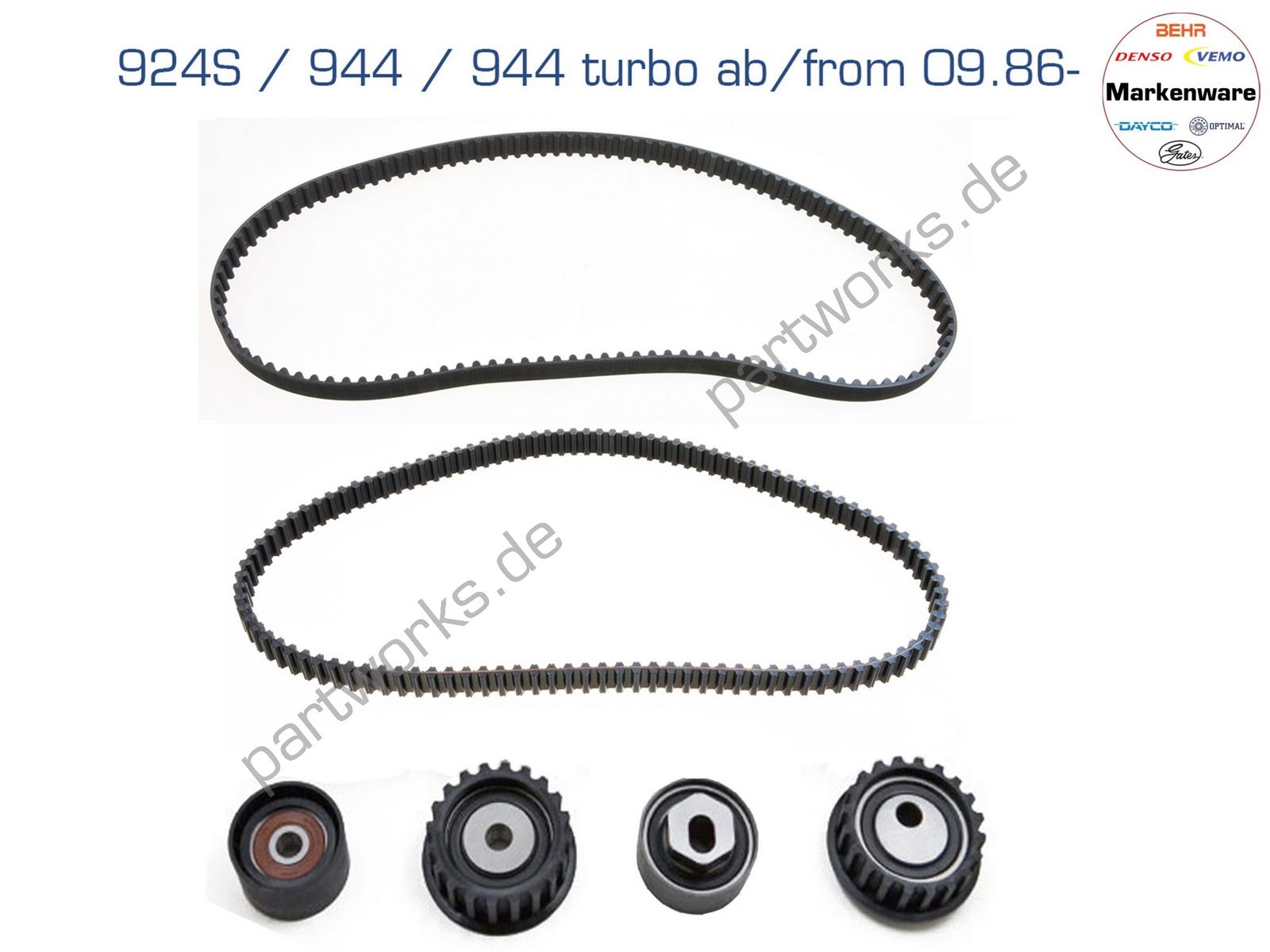 Zahnriemenset für Porsche 924S 944 944 turbo 951 09/87- LC