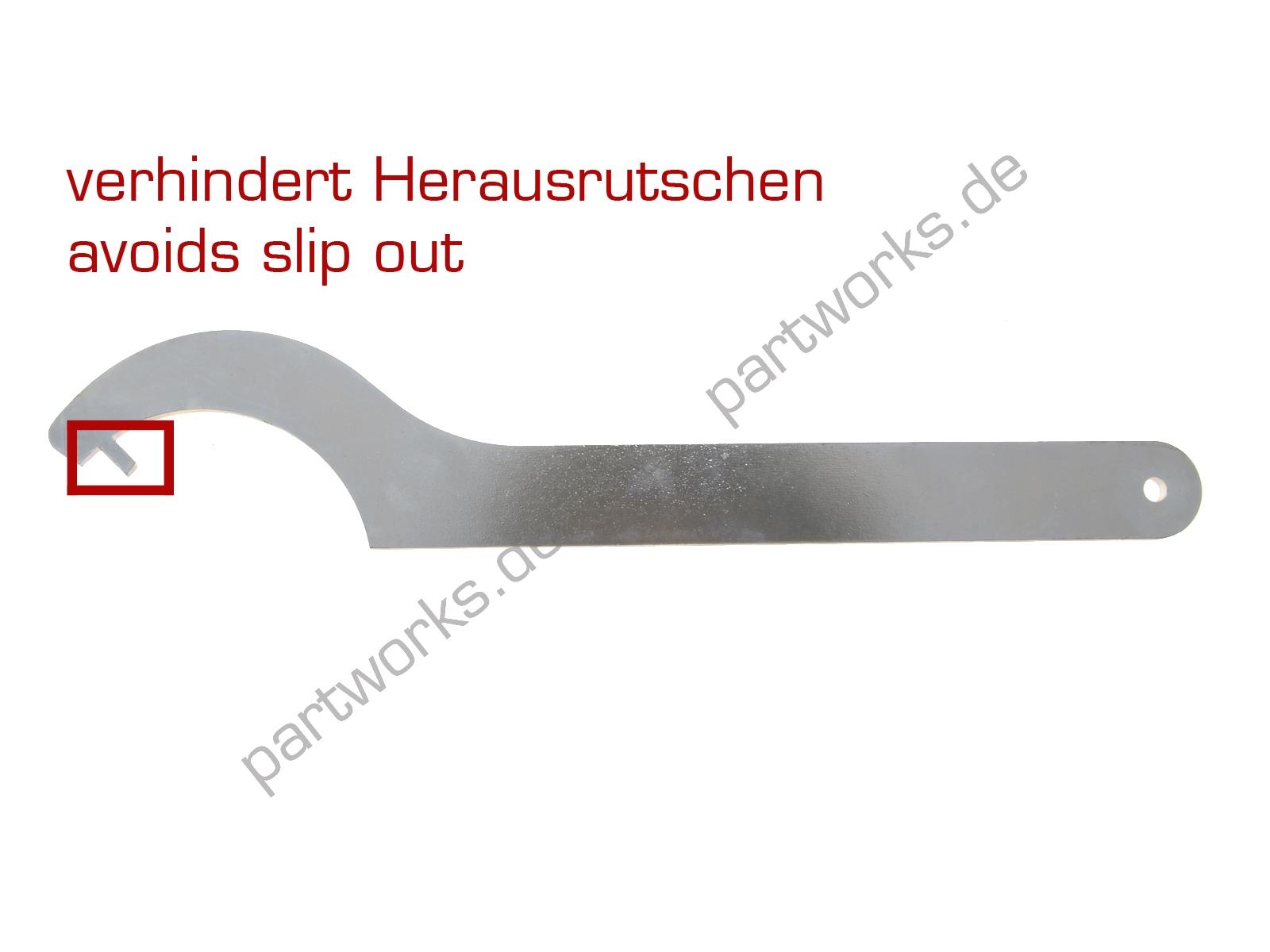 partworks Hakenschlüssel f. Porsche 911 Lichtmaschine FORM OPTIMIERT